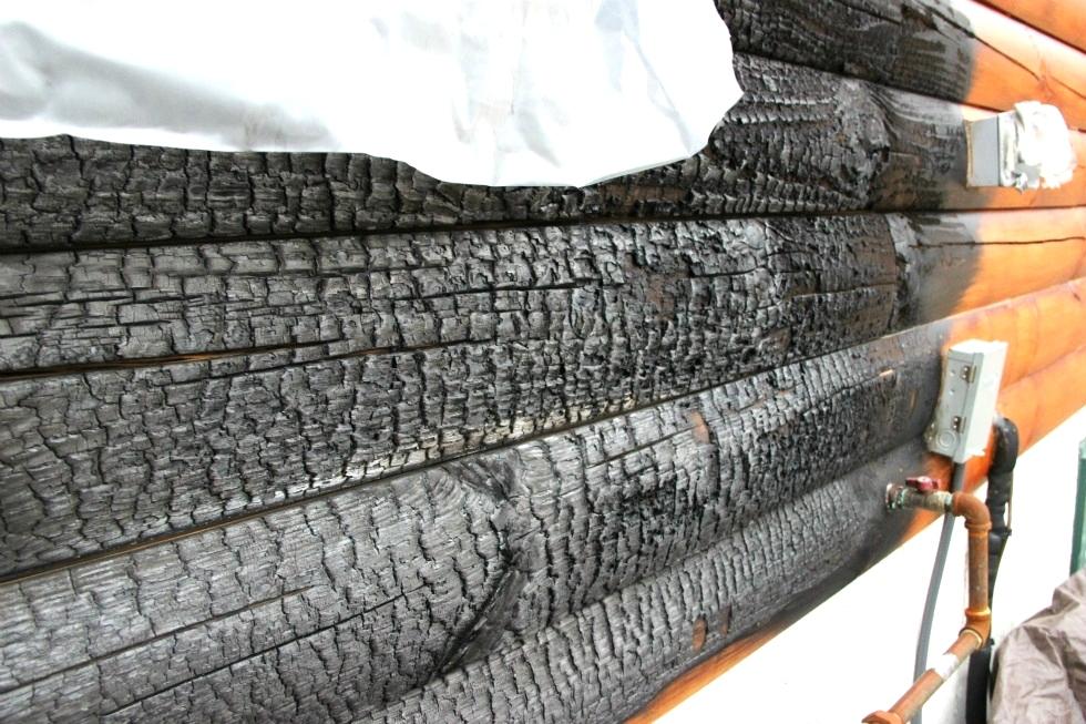 Fire Damaged Log Home Repair | Log Repair And Log Replacement Log Home Repair